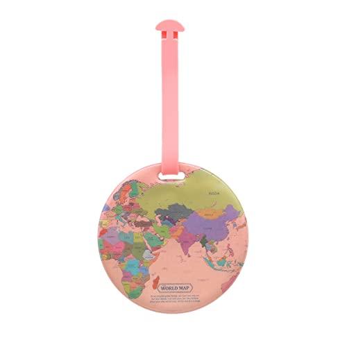 ラゲッジ ネーム スーツケース タグ トラベル 旅行 用品 紛失防止 小物 雑貨 かわいい おしゃれ レディース メンズ シンプル お揃い 韓国 マップ デザイン(3)