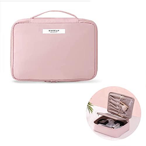 Borsa da Trucco,pochette trucchi ,Beauty Case da Viaggio Donna Borsa da Toilette,organizer per cosmetici per donne e ragazze,perfetto per viaggio all aperto(Rosa)