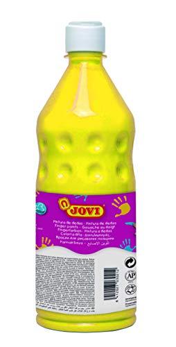 Jovi- Botella de Pintura Dedos, Color amarillo, 750 mililitros (56203)