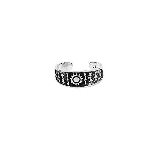 NKlaus 925 PLATA DE LEY Celta gótica anillo del dedo del pie cielo estrellado 7214