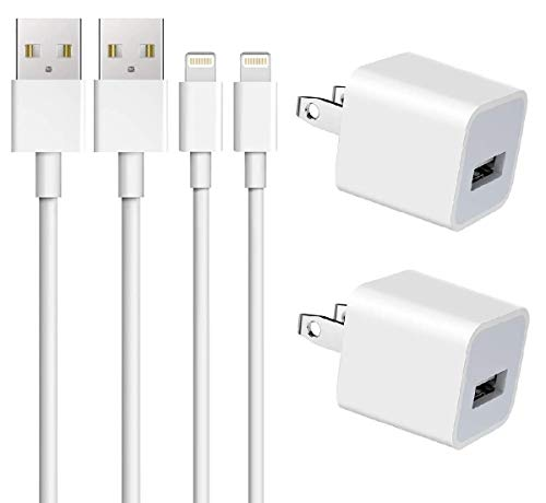 Apple iPhone Charger, ZOYOL MFi Certified Lightning Cable Data Sync Transfer Charging Cord with USB Wall Charger Plug Compatible iPhone 11 XS XR X 8 7 6s 6 Plus SE 5s 5, iPad 4 Mini Air Pro, iPod