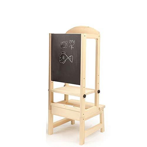 Eden's box Kinder Step UP KüCHEN Helfer Kinder aus Holz Step HOCKER Stuhl Kindern schwarzen Brett weißen Tafel Zeichnung learnining