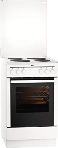 AEG CSB50000BW 50 cm Standherd mit Masse-Kochplatte / Grillfunktion / A