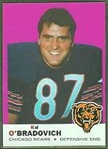 1969 Topps Regular (Football) card#95 Ed O Bradovich of the Chicago Bears Grade Near Mint/Mint or Better