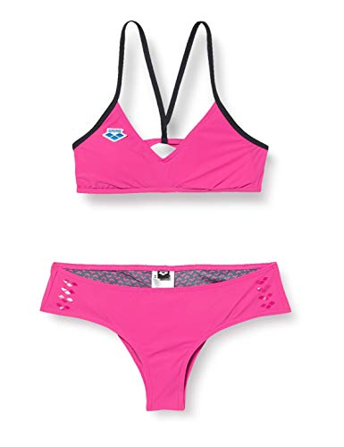 ARENA Damen Bikini Icons Cross, pink Flambe, 36