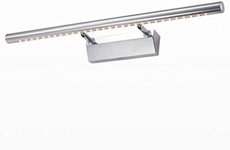 Spiegelleuchte Moderne und einfache wasserdichte LED-Edelstahl-Spiegel-Scheinwerfer, Anti-Fog-Badezimmer-Badezimmerspiegelschranklampen Beleuchtung zu Hause A+