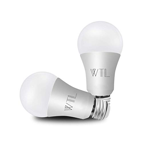 WTL A19 2 Pack 3-Way LED Light Bulb 40/60/100 Soft White 3000K 500-1200-1600LM High Lumens E26 Medium Base