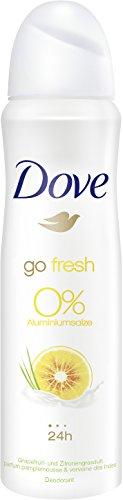 Desodorante Dove en spray de pomelo y limón, sin aluminio, 6 unidades (150 ml).