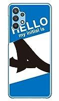 [Galaxy A32 5G SCG08/au専用] Coverfull スマートフォンケース Cf LTD ハローイニシャル A ブルー (クリア) ASCG08-PCCL-152-MC71