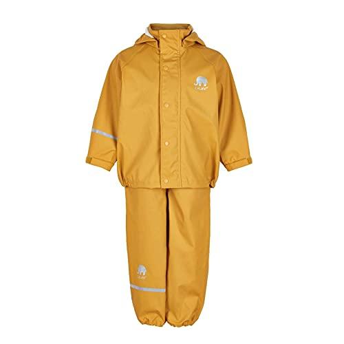 CeLaVi Mädchen CeLaVi zweiteiliger Regenanzug in vielen Farben Regenjacke,,per pack Gelb (Mineral Yellow 372),(Herstellergröße:140)