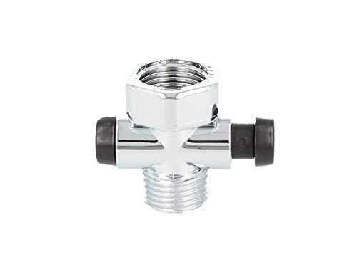 tecuro -60000- Duschstopp - Wasserstop für Handbrause Duschbrause - chrom
