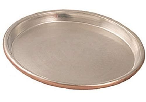 Vigor Blinky 94080-38 Teglia Rame Stagnato, Tonda, Bordo da 3 cm, Diametro 38 cm