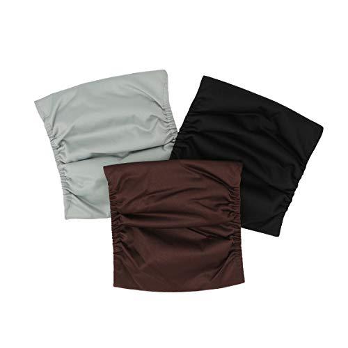 Hisprout männliche Hundewindeln Wiederverwendbare waschbare haltbare saugfähige Stoff-Hündchen-Windel-Hosen (L, Fashion Union)