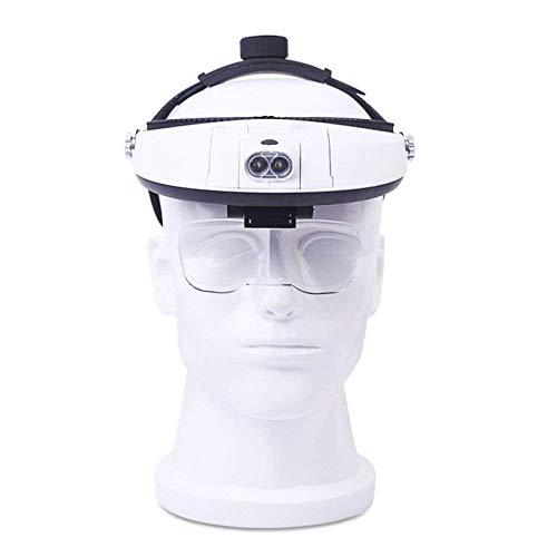 CENPEN Auriculares cabeza montado lupa con luces LED viejo lectura teléfono móvil reloj reparación observación belleza Hd aumento espejo 1x 1.5X 2.5X 3.5X