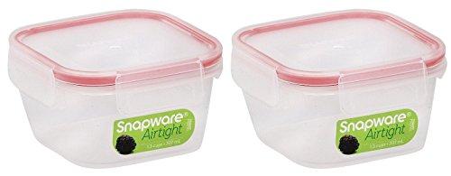 Snapware 1098417 1.3 Cup Mini Square Storage Container