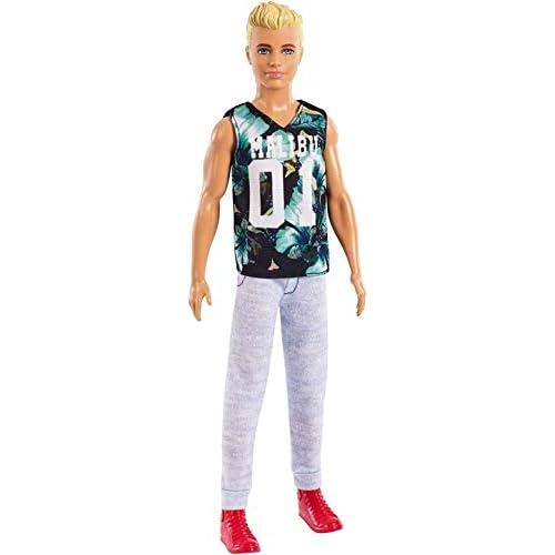 Barbie Fashionistas Ken, Bambola con Maglietta Game, FXL63