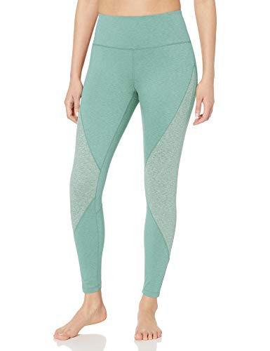 Core 10 Women's standard Studiotech High Waist Color Block Yoga Legging-26, Aquatic Green, X-Small