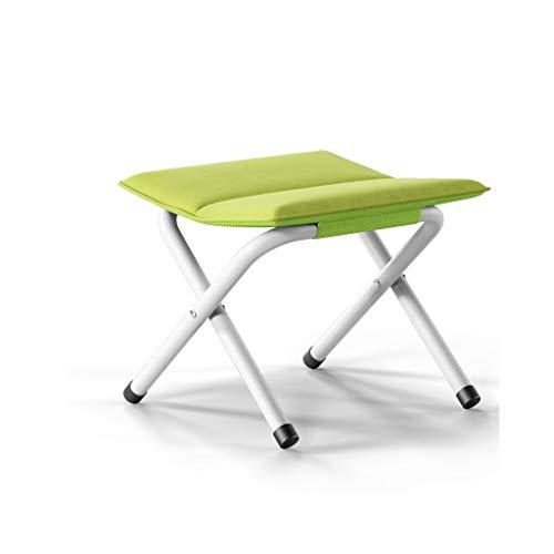 Chaises pliantes Portable, Banc, en Plein air, Gain de Place, Plus de Coton, Tabouret de Camping Pliable Portable, Portant 150 kg (Color : Green)