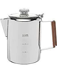 9 CUP Camping Coffee Pot