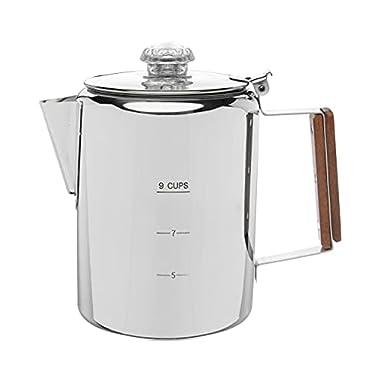 COLETTI Bozeman Camping Coffee Pot – Coffee Percolator – Percolator Coffee Pot for Campfire or Stove Top Coffee Making…
