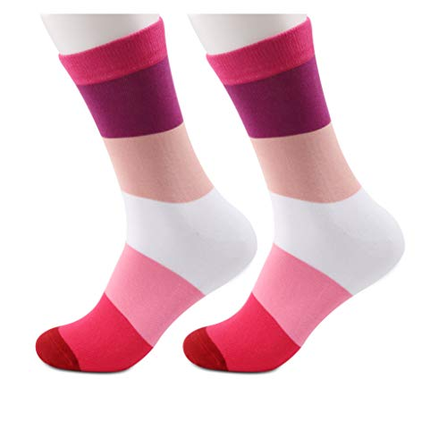 PYOUL 1 Paar Lesben Socken Lesben Stolz Flagge Socken Gay Pride Tube Socken Lesben Geschenk LGBTQ Pride Freundin Geschenke Gr. M, Lesben Socken 1 Paar
