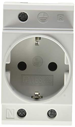 UNITEC 47260L Einbau-Schutzkontakt-Steckdose für Verteilereinbau