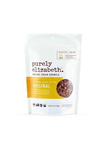 Purely Elizabeth Ancient Grain Granola, Certified Gluten-free, Vegan & Non-GMO   Coconut Sugar   Delicious Healthy Snack   Clean Energy   Original 12oz