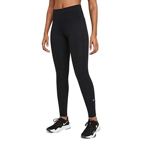 NIKE W One MR TGHT 2.0 Leggings, Black/(White) L para Mujer (DD0252-010)