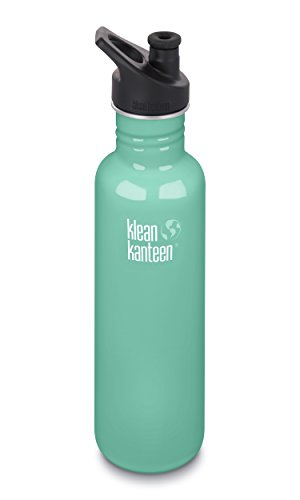 Klean Kanteen Classic Stainless Steel Single Wall Non-Insulated Water Bottle with Sport Cap, 18-Ounce, Sea Crest