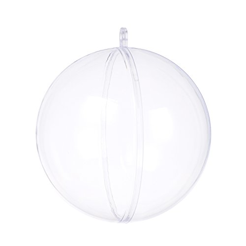 S SEEKINGTAG Clear Fillable Ornaments Ball - Pack of 10 Individual 80mm Ornaments