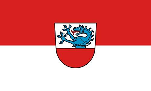 Unbekannt magFlags Tisch-Fahne/Tisch-Flagge: Neumarkt-Sankt Veit, St 15x25cm inkl. Tisch-Ständer
