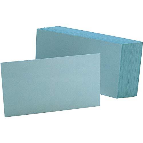 ESS7320BLU Oxford Unruled Index Cards, BLUE