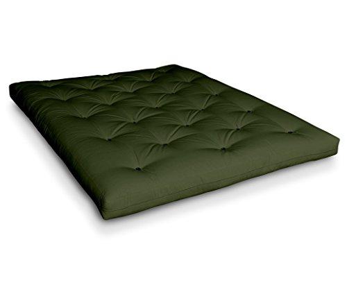 Futon Naoko Baumwollfuton Futonmatratze mit 6X Baumwolle von Futononline, Größe:160 x 200 cm, Color Futon SE Amazon:Olive/Filz schwarz