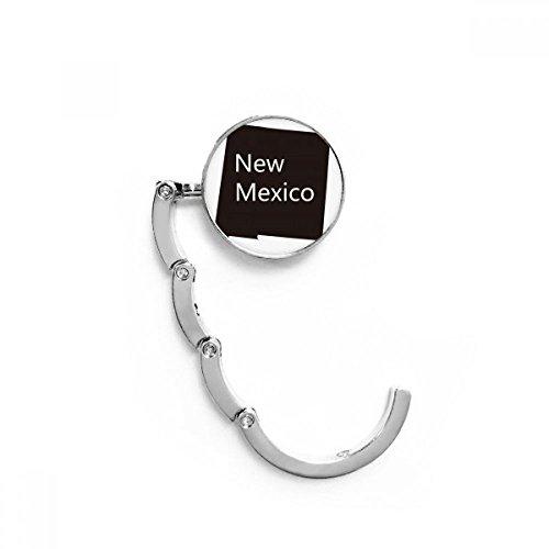 DIYthinker New Mexico USA Karte Silhouette Tabelle Haken Falttasche Schreibtisch Aufhänger Faltbare Halter 4,4 x 4,4 cm (Breite x Höhe) gefaltet Mehrfarbig