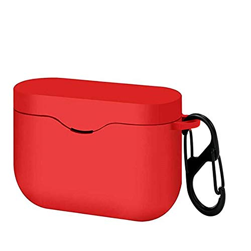 Ankersaila Case Compatible with Sony WF-1000XM3,Shock Drop Proof Soft Silicone Protections Case Cover (Red Colour)