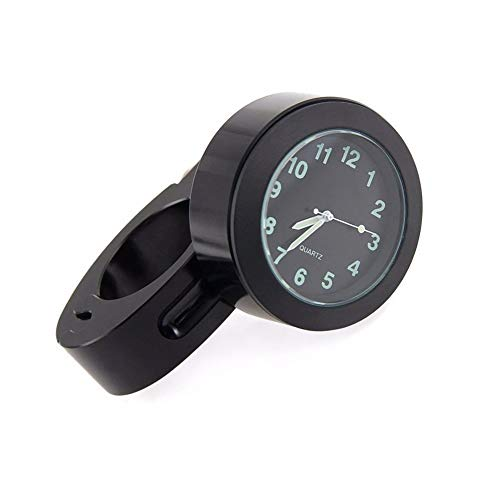 Dxlta Reloj del manillar - manillar de la motocicleta de la bici Reloj del reloj del dial de la mini prenda impermeable