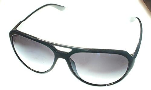 Vuarnet Men's Extreme VE5009 Medium Aviator Sunglasses shiny black/grey Black Grey Lens