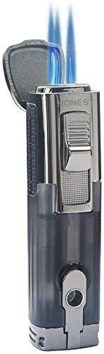 PROMISEbyHONESTシガーライタータバコライター三火直沖透明気箱大調節輪帯シガードリル防風 (�K)