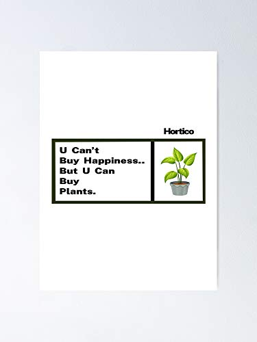 AZSTEEL Horticulture Happiness Love Flowers Plant Garden Seeds Growth Essential Poster