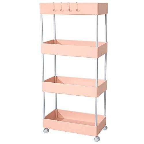 Carro de almacenamiento CSQ Slim Slide Out, ruedas multicapa, carrito de cocina con ruedas para salón, oficina, cuarto de baño, pequeño espacio de plástico, plástico, c, 41*22*88CM