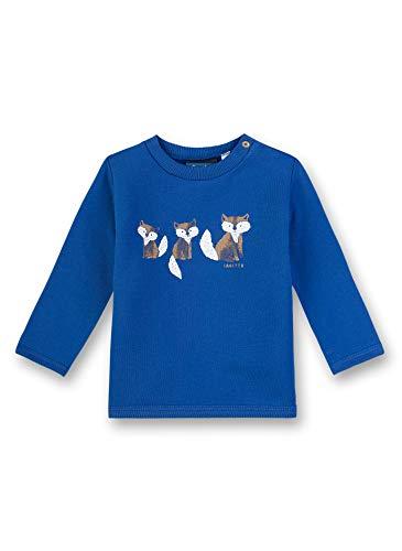 Sanetta Baby-Jungen Sweatshirt, Blau (Ocean Wave 50071), 80 (Herstellergröße: 080)