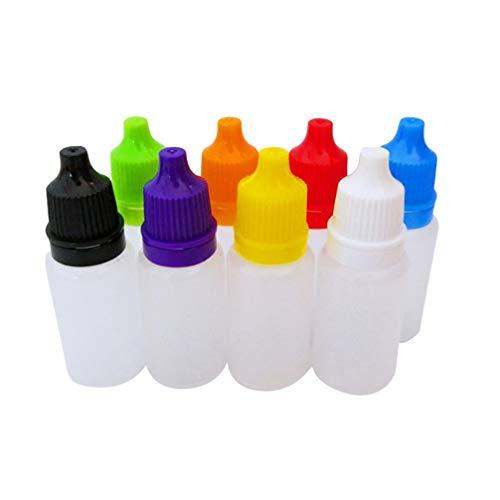 Healifty 8Pcs / Pack Flacon Compte-Gouttes Liquide en Plastique Vide pour Les Yeux Flacons Compte-Gouttes Compressibles 20 Ml (Couleur Aléatoire)
