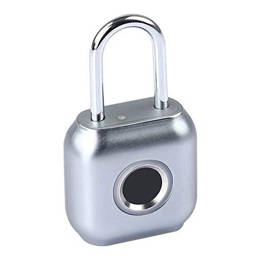 CZLABL Elektronisch hangslot, intelligent, voor vingerafdrukken, minidiefstalbeveiliging, persoonlijk, met USB-oplaadinterface en laag batterijniveau, geschikt ter bescherming van de artikelen