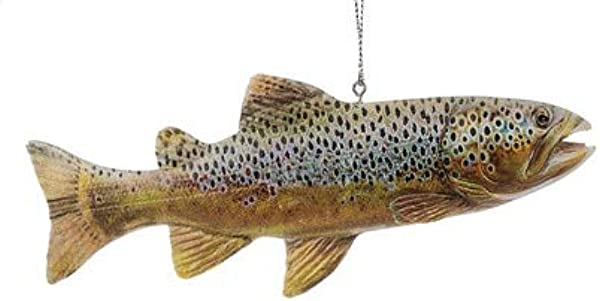 On Holiday Lake Rainbow Trout Fish Christmas Tree Ornament