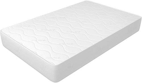 Materasso per divano letto 140x190 cm altezza 14 cm, in WaterFoam, tessuto AloeVera, indeformabile, anallergico ed antiacaro, rigidità media. Modello: Plus H14