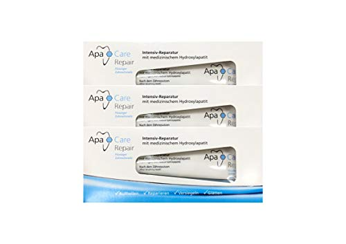 3x ApaCare Repair Intensiv-Reparatur Gel Zahncreme 30ml