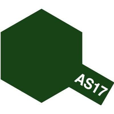 タミヤ タミヤエアーモデルスプレー AS-17 濃緑色