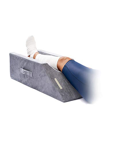 LightEase Memory Foam Leg Support and Elevation Pillow w/Dual Handles for Surgery, Injury, or Rest