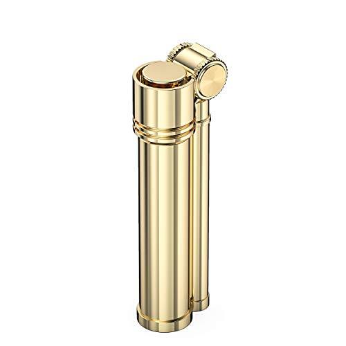 VVAY Vintage Messing Benzinfeuerzeug, Schönes Design (Verkauft ohne Benzin)