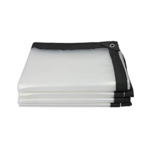 F-S-B ToldoClear Tarpaulin 120G/M ² Impermeable Exterior Transparente Tarp toldo Cortavientos Aislamiento de película de Invernadero,2 * 4m